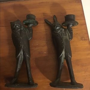 Accents - Mad hatter tea party style candle sticks